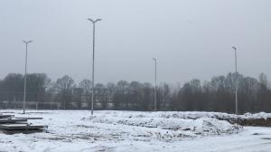 Sneeuw op de banen